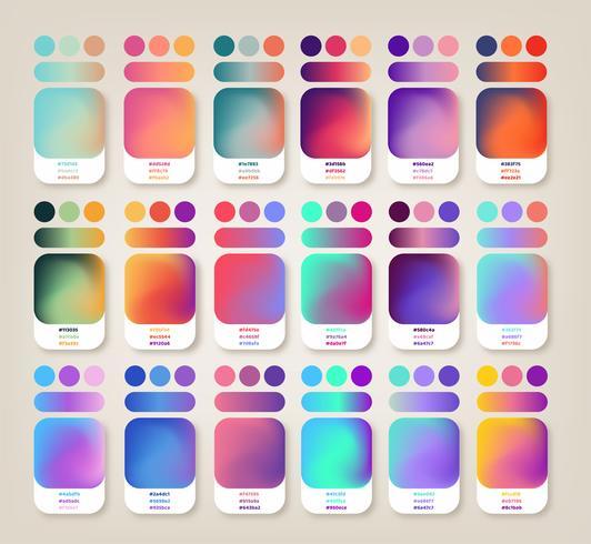 gradient färger idéer vektor