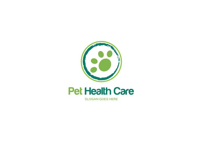 husdjur sjukvård logotyp vektor
