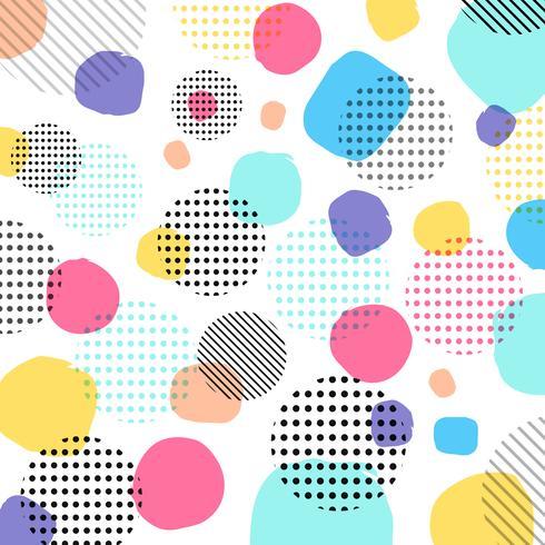 Abstrakt modern pastellfärg, svart prickmönster med linjer diagonalt på vit bakgrund. vektor