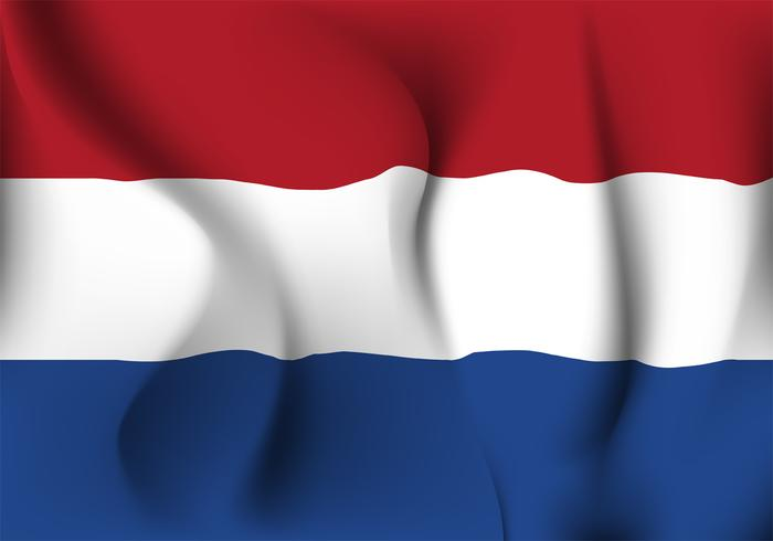 Realistisches Netherland-Flaggen-Vektor-Design vektor