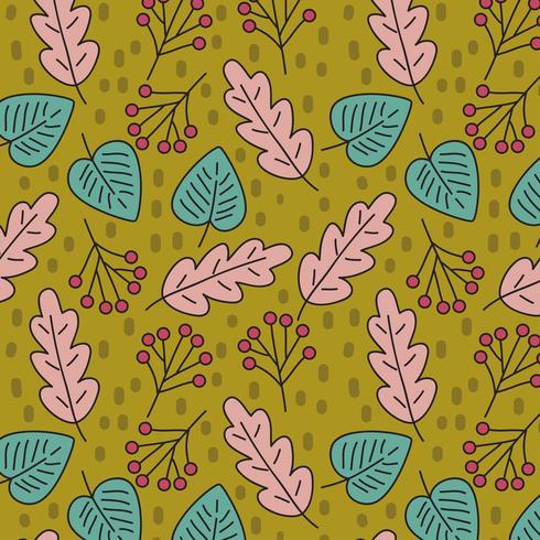 Lässt Muster des Herbstes vektor