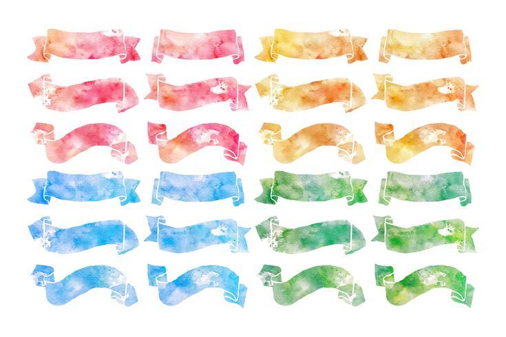 Handdragen vattenfärgband vektor