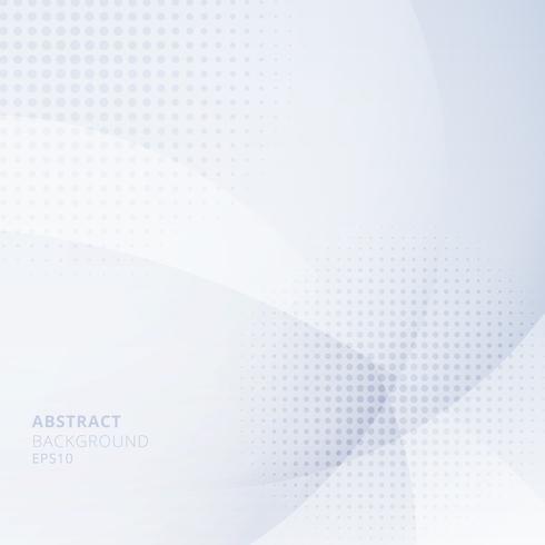 Abstrakta ljusblå cirklar överlappar med halvton på vit bakgrund. Geometrisk mall design användning för omslag broschyr, affisch, banner web, broschyr, flygblad, etc. vektor