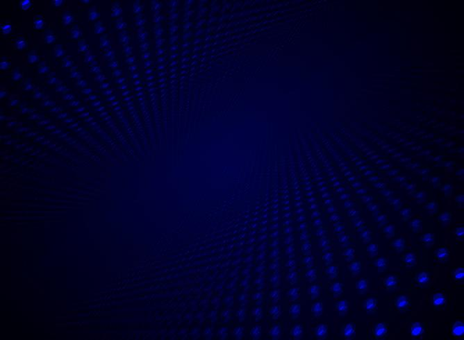 Dynamisches blaues Punktmuster des abstrakten Datenvisualisierungspartikels der Technologie futuristischen auf Dunkelheitshintergrund und -beschaffenheit mit Kopienraum. vektor