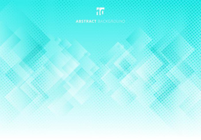 Abstrakte elegante Quadrate formen geometrischen weißen und grünen Steigungsfarbhintergrund der Musterüberlagerungsschicht mit Halbtonbeschaffenheit. vektor