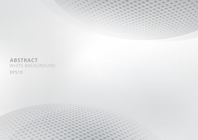 Elegant abstrakt vit och grå gradient bakgrund med krökt och halvton stil. Modern design för rapport och projekt presentation mall. vektor