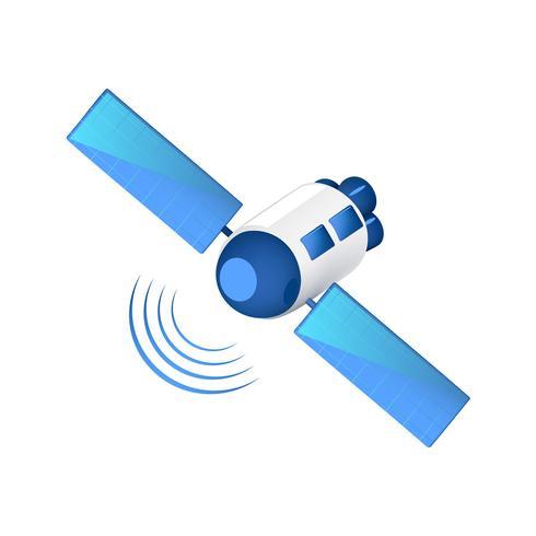 Kommunikation Satellitsändningssignaler vektor