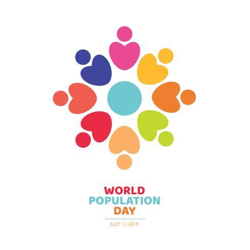 världs befolkning dag logo design vektor
