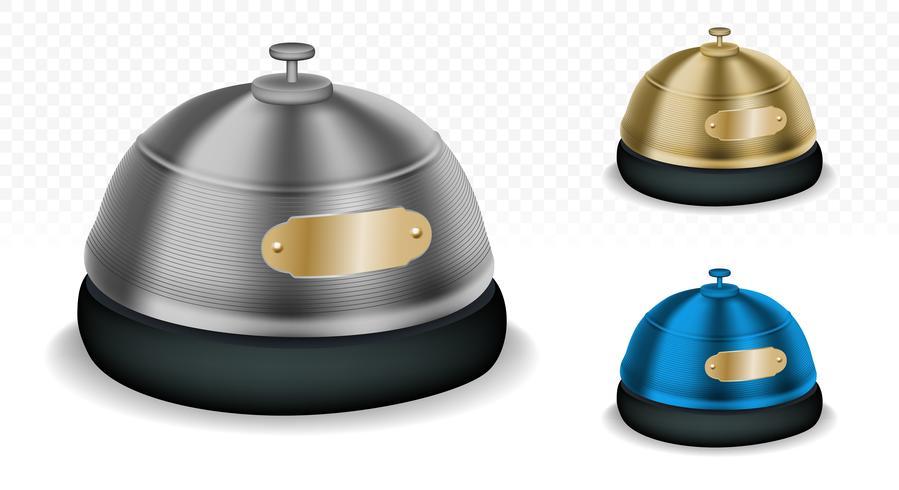 Empfangs-Bell-Mehrfarbensatz vektor