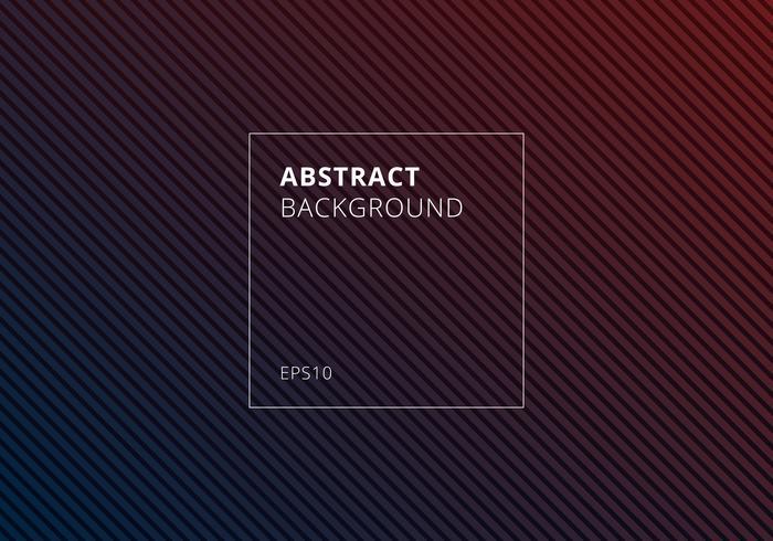 Abstrakte blaue und rote gestreifte Linien diagonales Muster auf dunklem Hintergrund und Beschaffenheit. vektor
