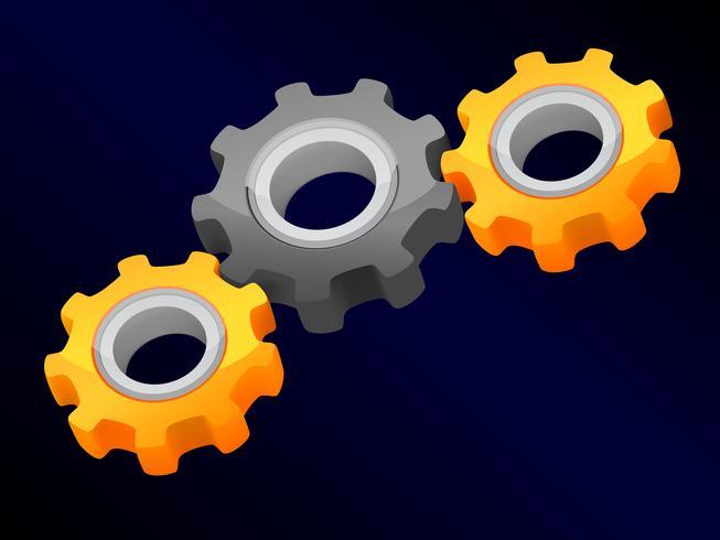 Teamwork koncept - anslutna pinions vektor