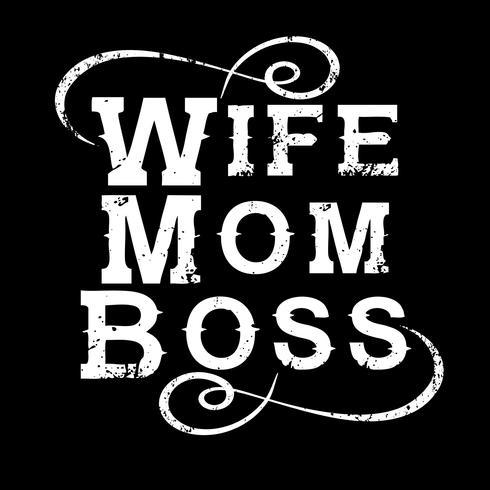 Fru mamma Boss vektor