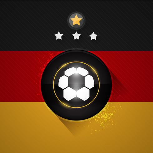 Deutschland Fußball Flagge vektor
