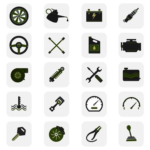 Autoservice-Symbole vektor