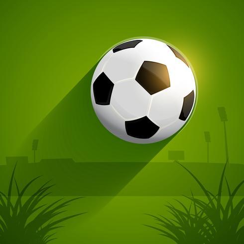 Flygfotboll vektor