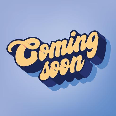 Kommer snart Typografi Vector Design