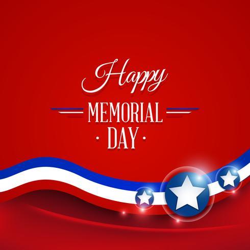 Glad Memorial Day vektor