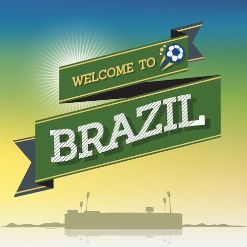 Välkommen till Brasilien vektor