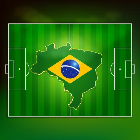 Brasilien fotbollsplan vektor