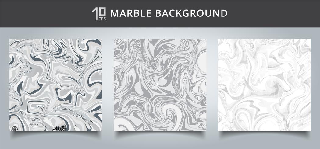 Gesetzte graue und weiße Marmorhintergrundbeschaffenheit der Schablonenabdeckung. vektor