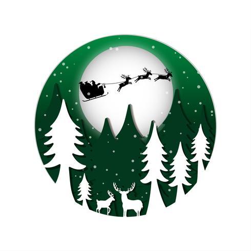 Weihnachten Hintergrund Papierstil vektor