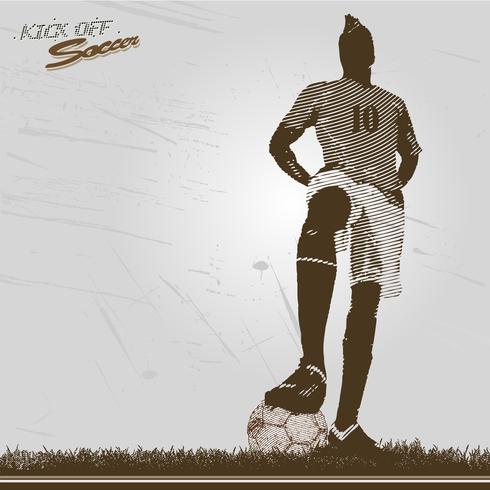 Vintage Fußballspieler Anpfiff vektor