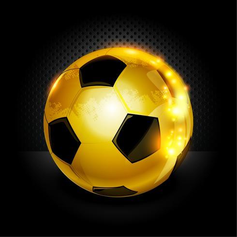Gold Fußball vektor