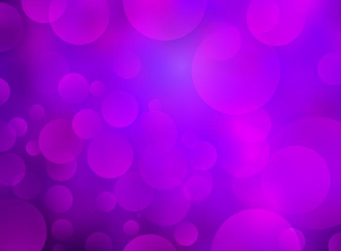Abstrakter purpurroter Kreis-bokeh Hintergrund vektor