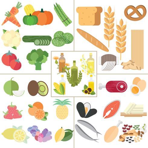 Ernährung gesundes Essen vektor