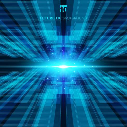 Abstrakt blå virtuell teknik koncept futuristisk digital bakgrund med plats för din text vektor
