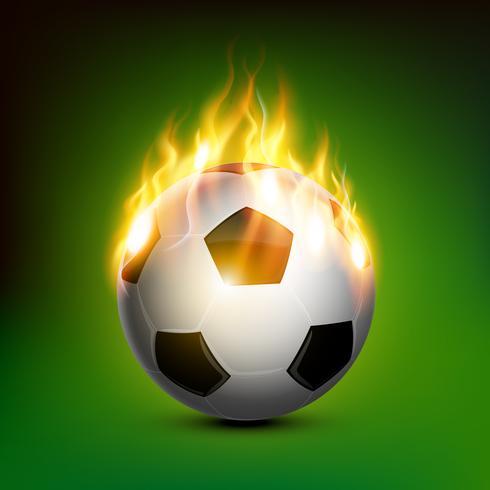 Fußball in Flammen vektor