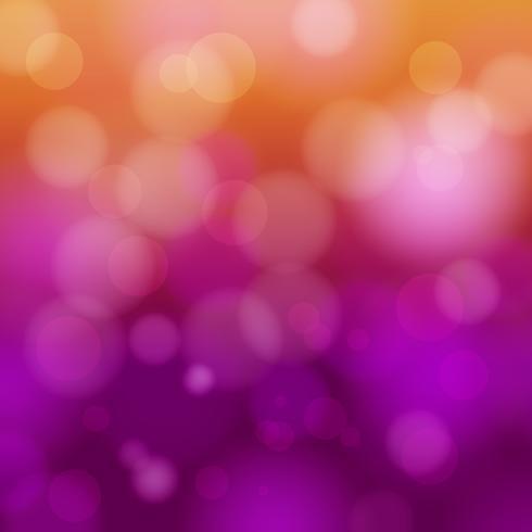apelsin och lila bokeh abstrakt ljus bakgrund - vektor illustration