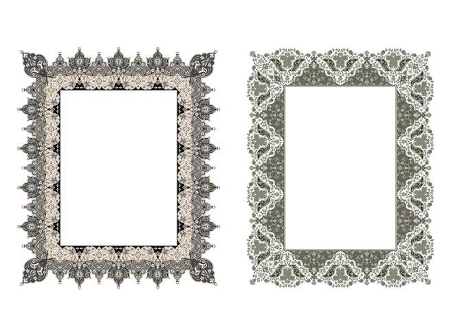 quadratischer eleganter Rahmen. Vektor-Illustration. vektor