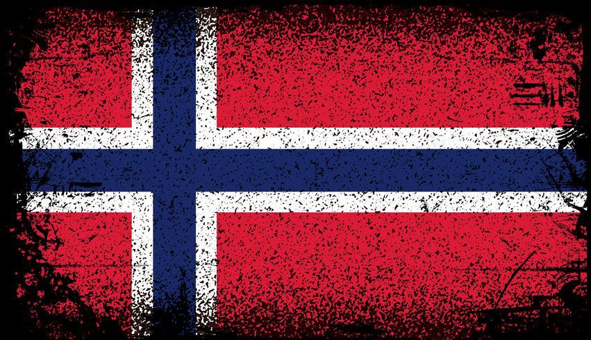 norge grunge flagga vektor