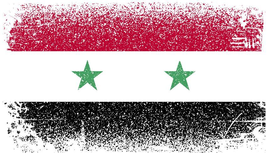 Syrien Grunge flagga vektor