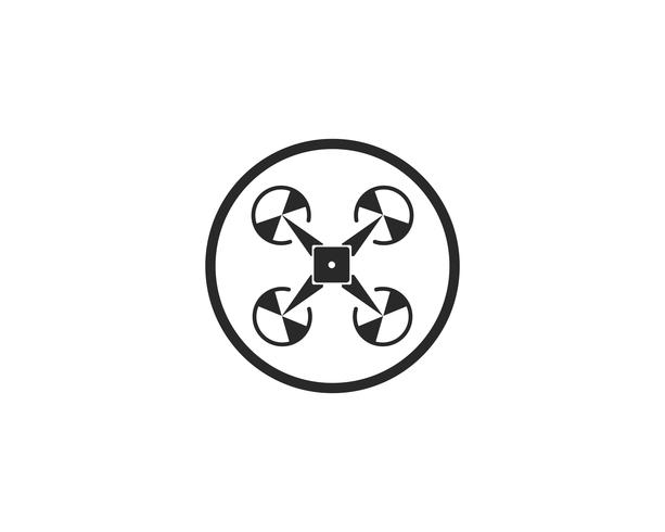 Drone logotyp och symbol vektor illustration