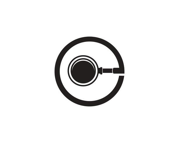 förstoringsglas ikoner logotyp vektor