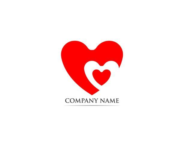 Kärlek röd logotyp och symbolvektor vektor
