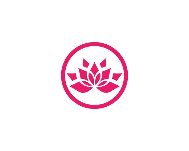 Schönheits-Vektor-Lotus-Blumen entwerfen Logo Schablonenikonen vektor