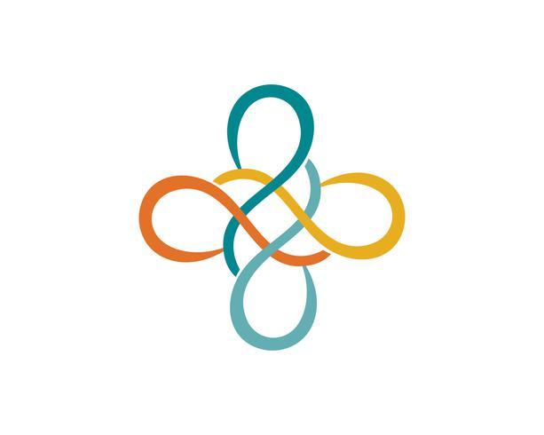 oändlighet logotyp och symbol mall ikoner vektor