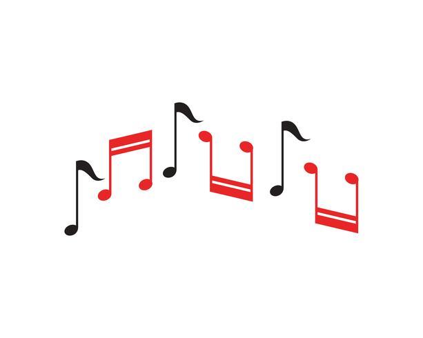 Musik notering Ikonvektor vektor
