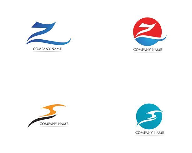 Z-logotyp vektor mallar