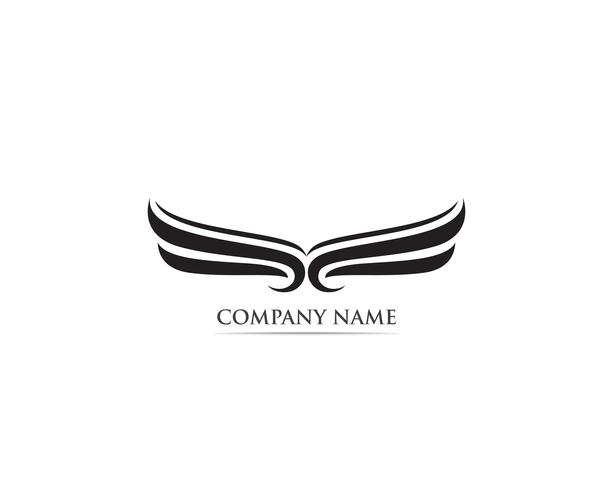 Flügel Falkenadler Vogel Logo Vektor