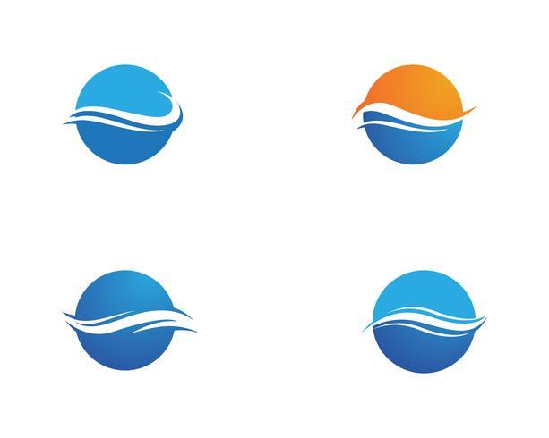 Vattenvågssymbol och ikonlogotyper vektor