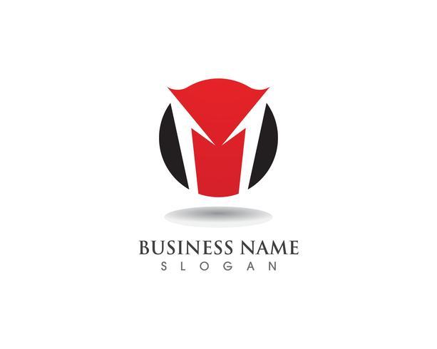 M-logotyp och symboler business vektor