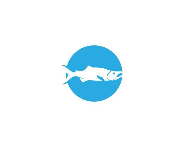 fisk vektor silhuett mall lax svart