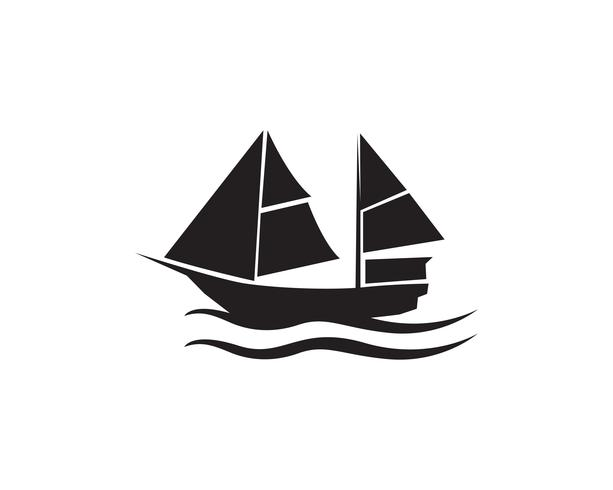 Ocean kryssning linjeskip silhuett enkelt vektor