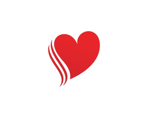 Kärlek med hjärta vektor illustration