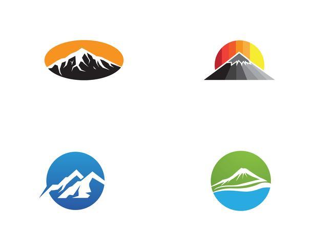 Mountain Vector logo och symbol