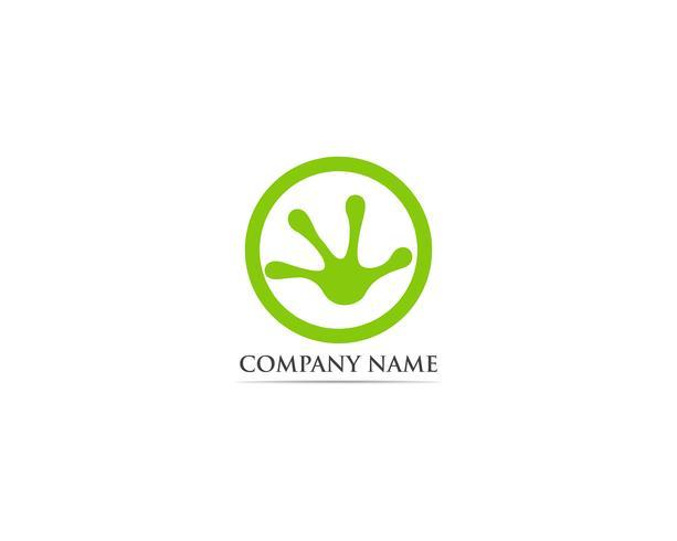 Groda logotyp och symbol vektor illustration